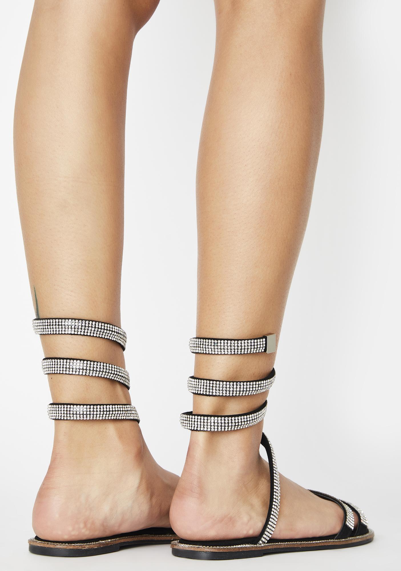 AZALEA WANG Blame Rhinestone Sandals