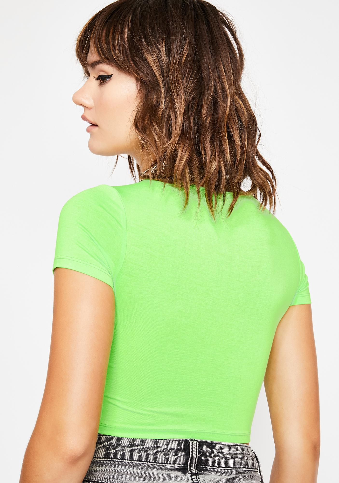 Lime Over The BS Crop Top