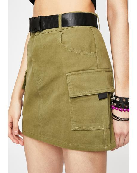 Kush On The Go Cargo Skirt