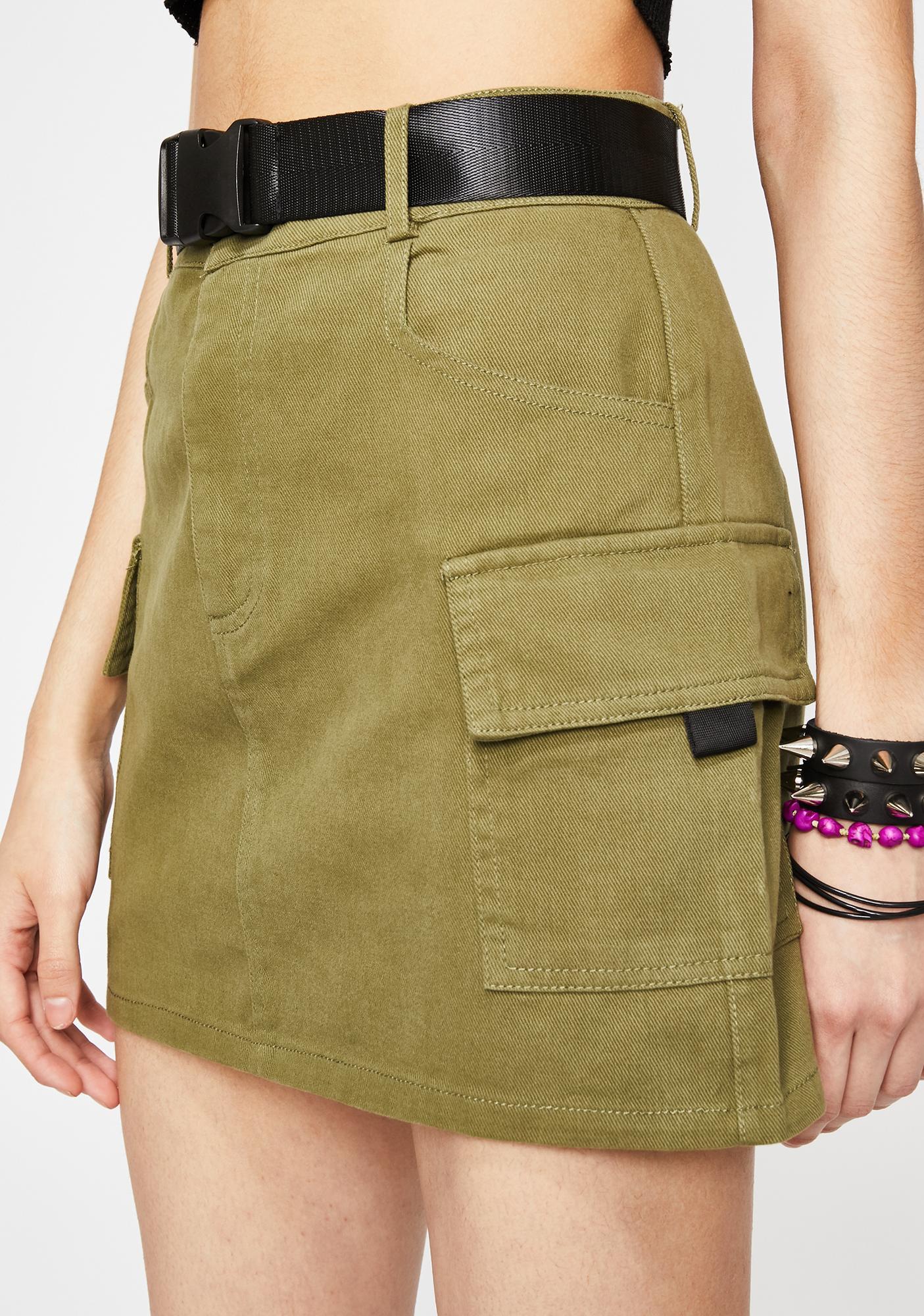 Kush On The Go Cargo Skirt