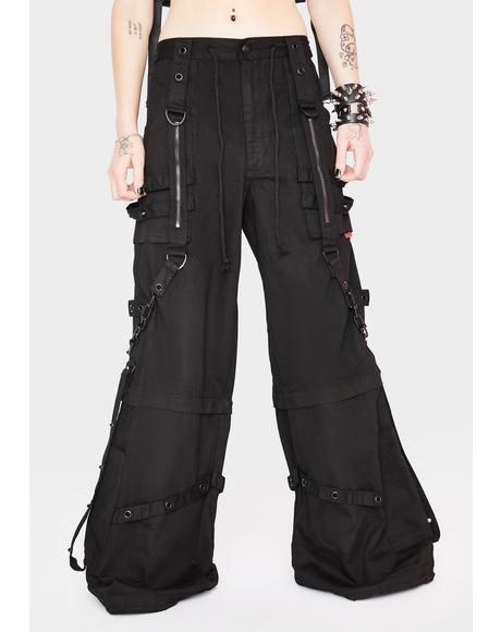 Black Chain And Zipper Pants