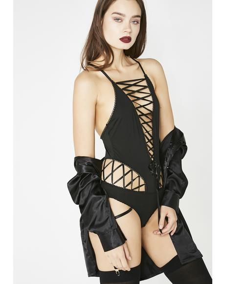 Resist Me Lace-Up Teddy