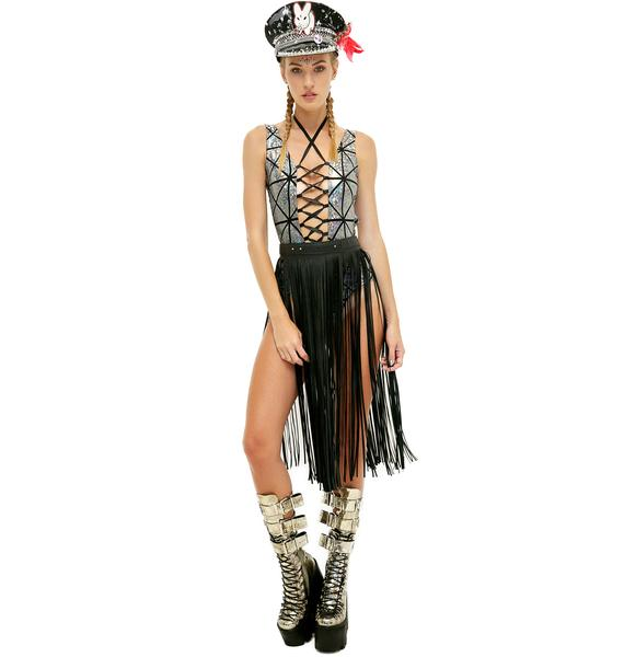 Rolita Rave Couture Follow Tha Music Lace-Up Bodysuit