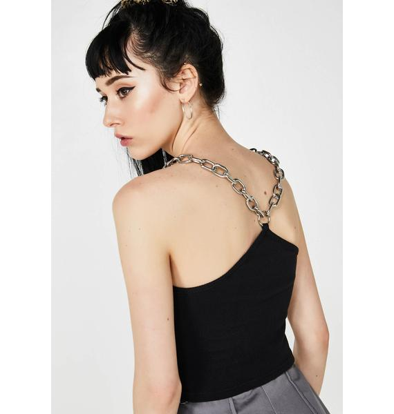 The Ragged Priest Onyx Shackle Top