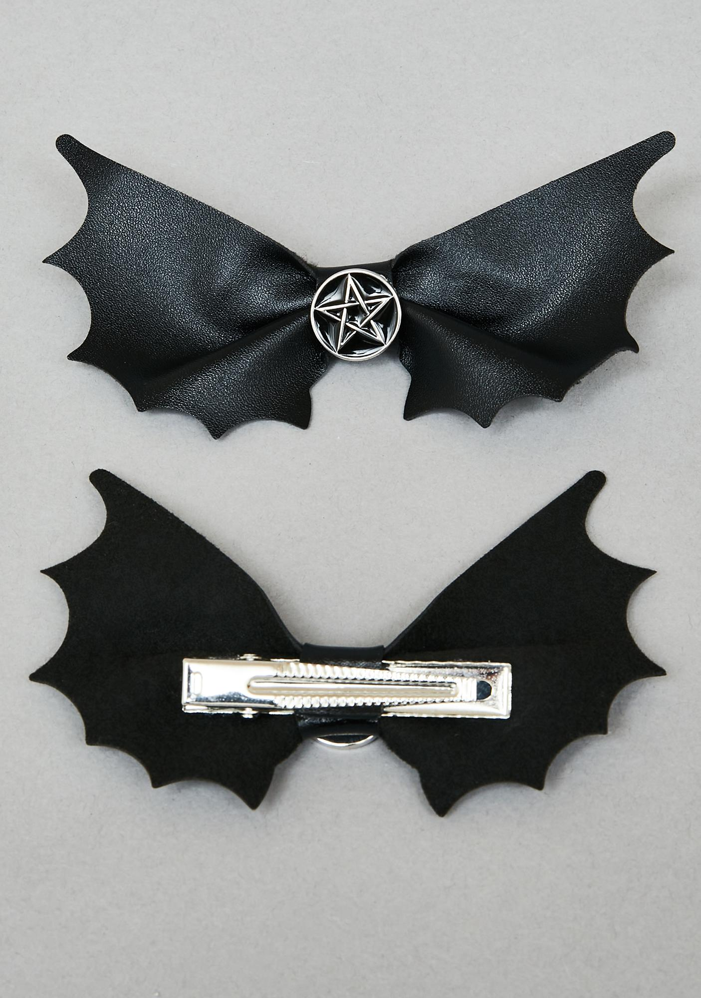 Dark Bidding Hair Clips