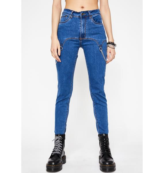 Chained Gang Skinny Jeans