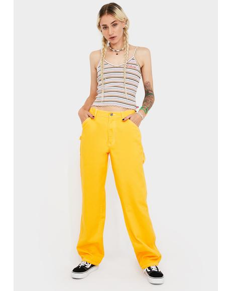 Yellow Carpenter Pants