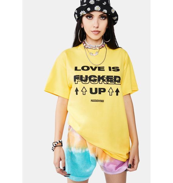 MOODSWINGS Love Is Effed Up Short Sleeve Graphic Tee