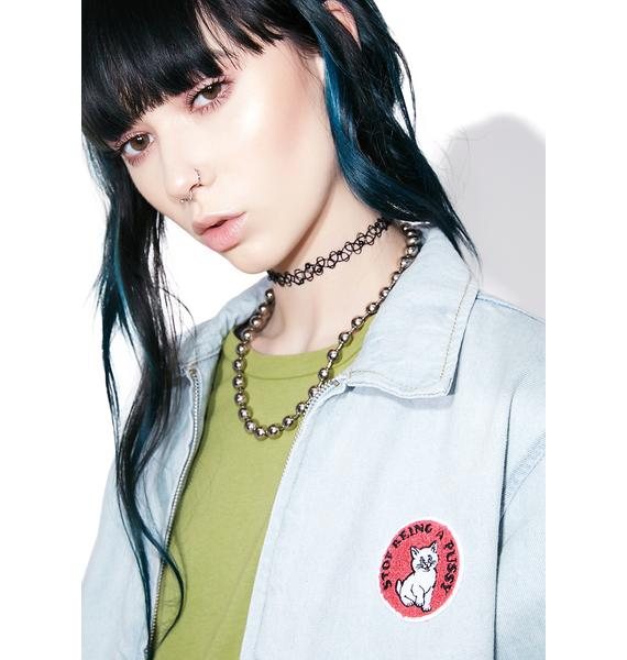 RIPNDIP Stop Being A Pussy Denim Jacket