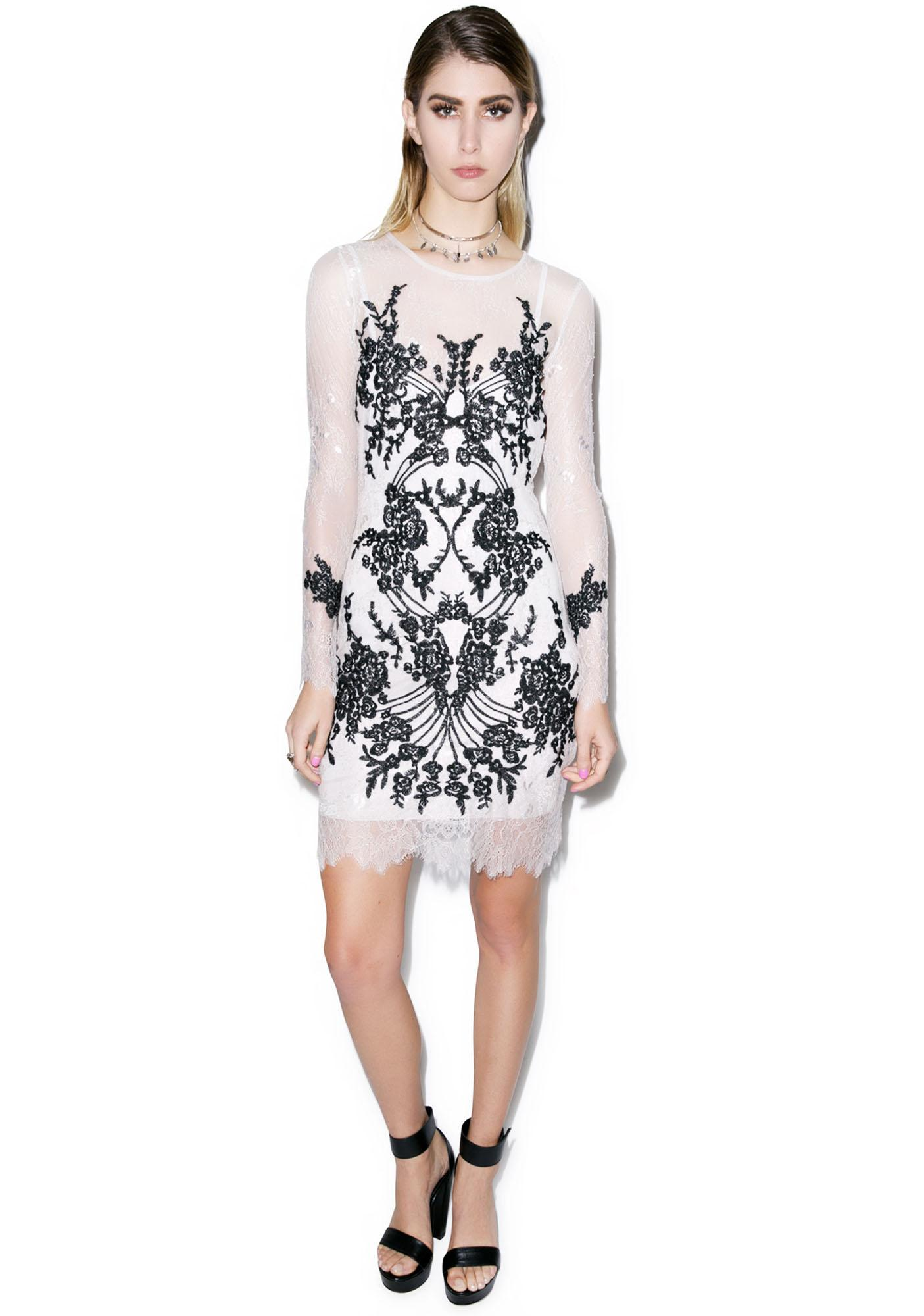 For Love & Lemons Lacey Dreams Mini Dress