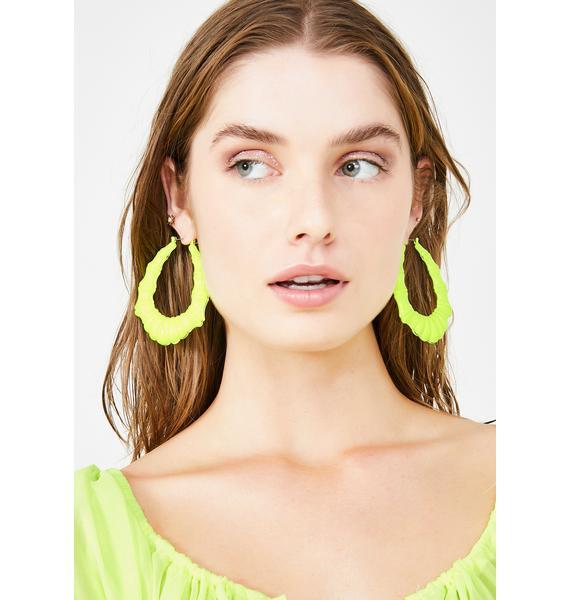 Bamboo'zle Em Hoop Earrings