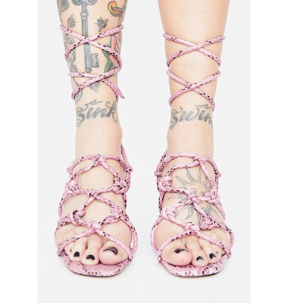 Public Desire Freya Snakeskin Heels