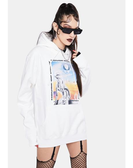 Artificial Print Hoodie