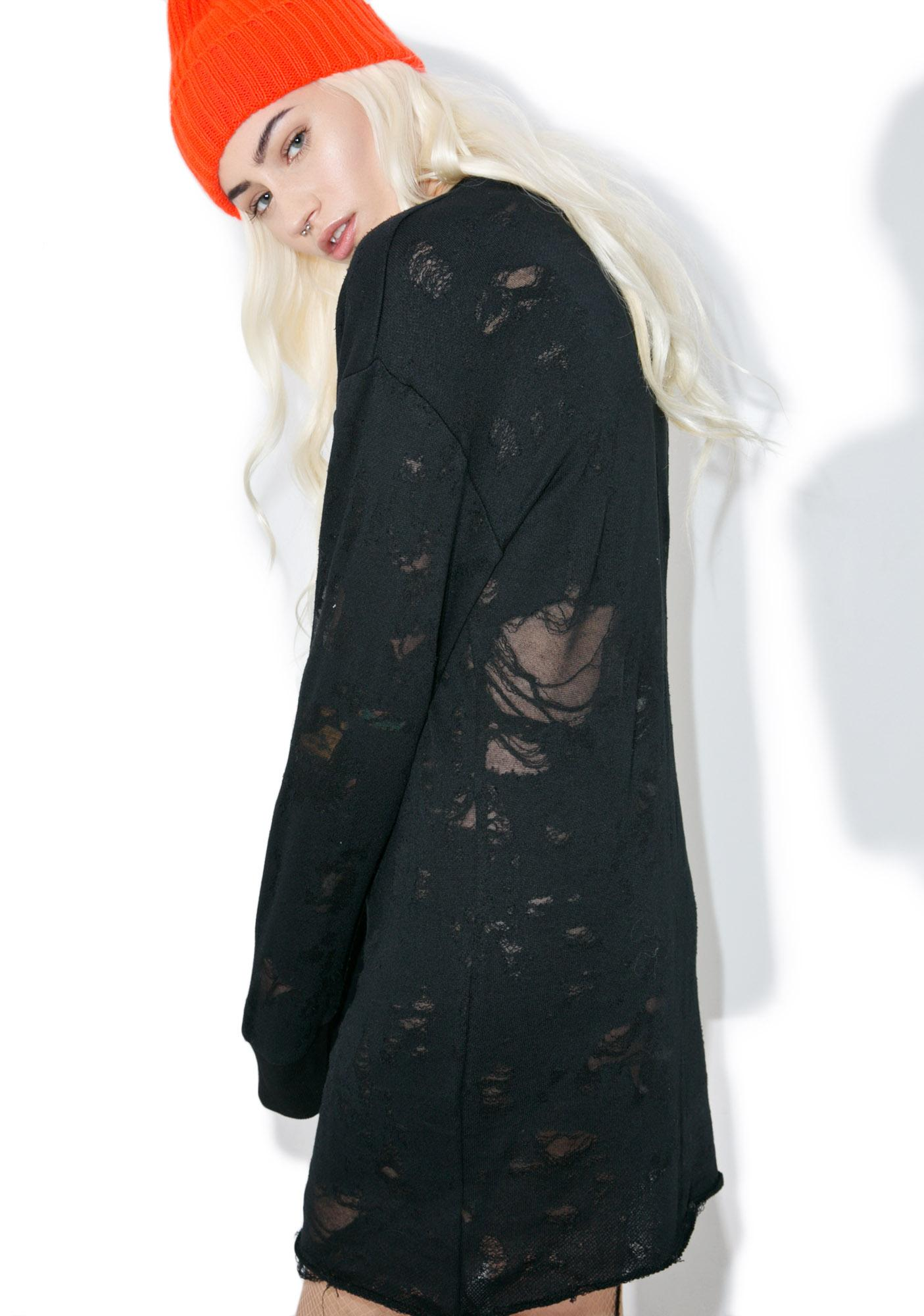Kendall + Kylie Deconstructed Terry Dress