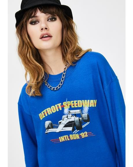 Race Car Graphic Sweatshirt