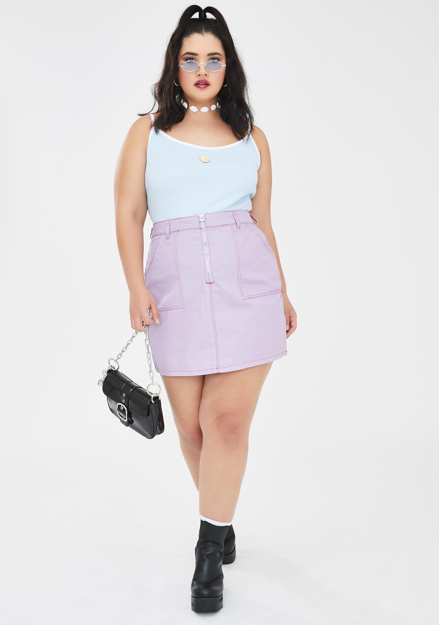 Lazy Oaf BB Contrast Stitch Cigarette Skirt