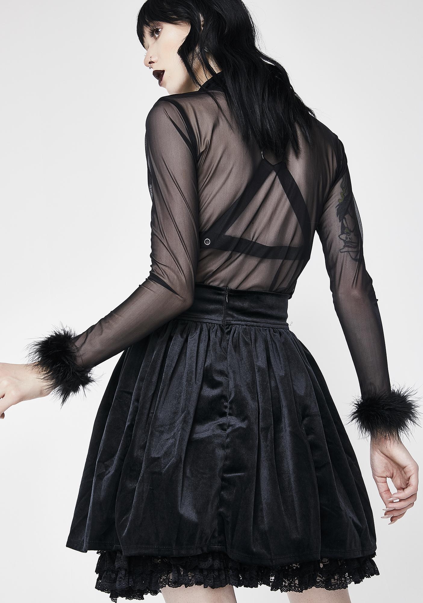 Killstar Juliet Velvet Skirt