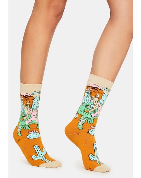 x Dreyfus Lazy Lizard Crew Socks