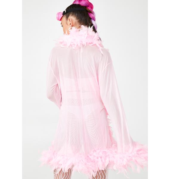 Sweet No Presha Feather Robe