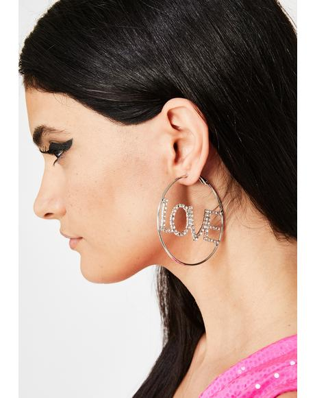 Blindin' By Love Hoop Earrings