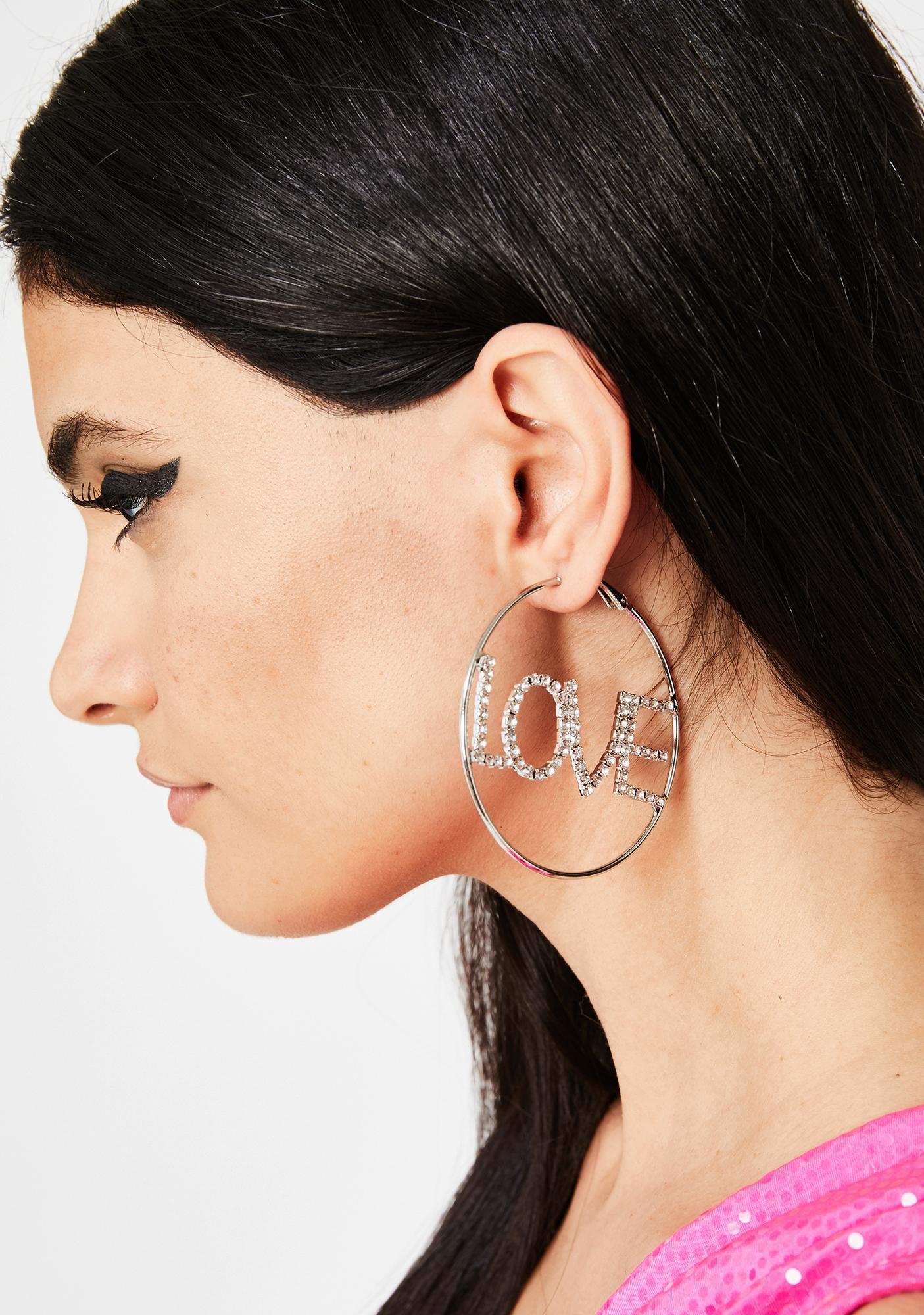 Blindin' By Love Hoop Earrings