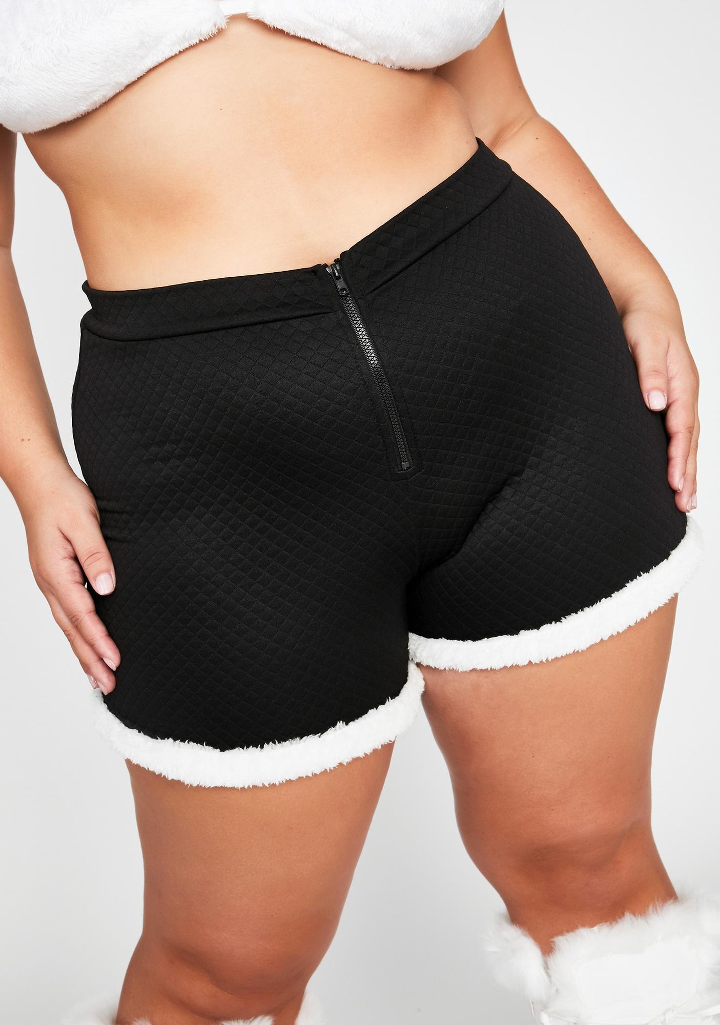 Bad Legit Soft Gurl Hours Fur Trim Shorts