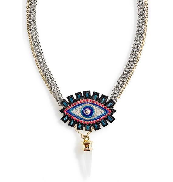 Love And Madness All Seeing Necklace