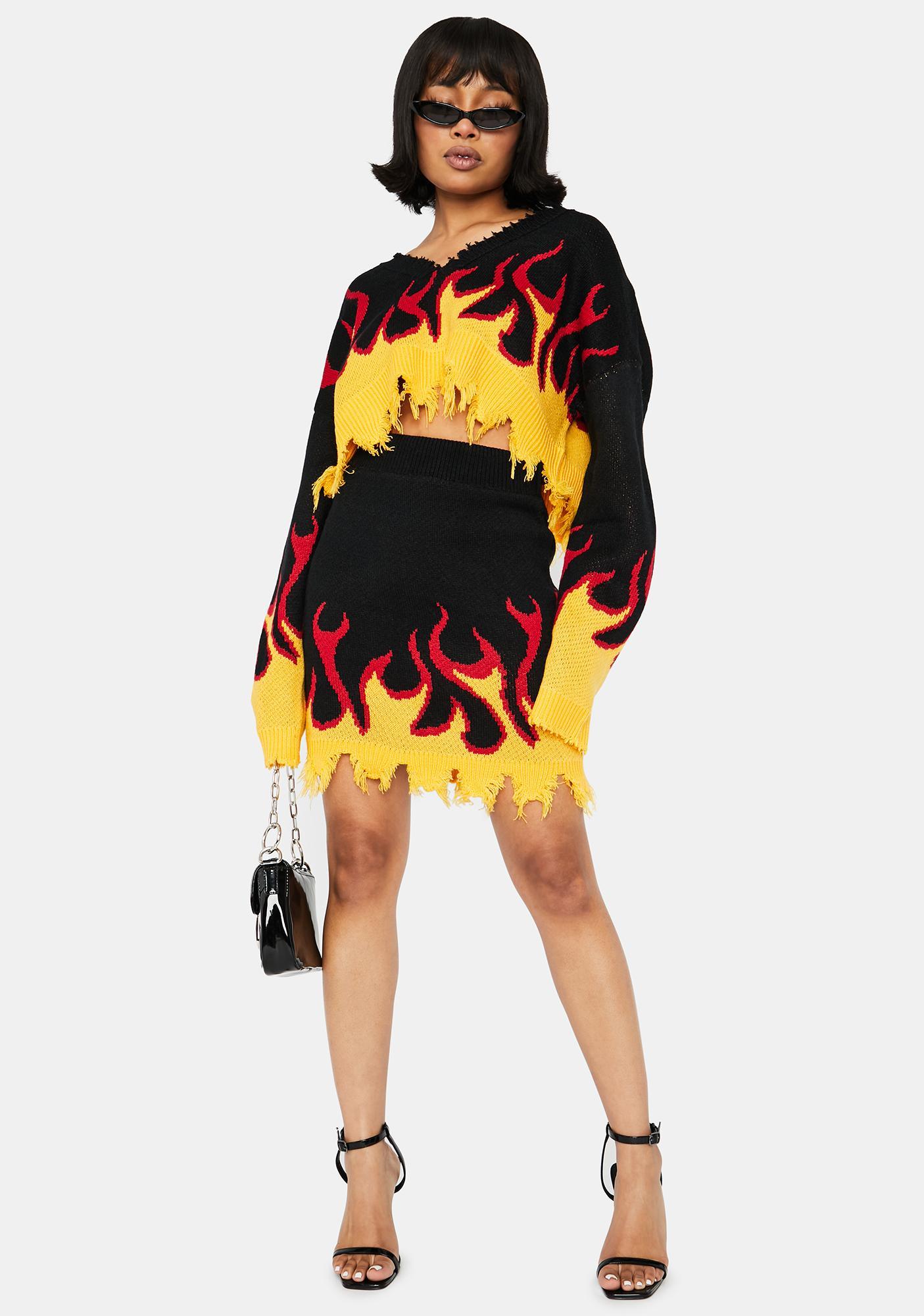 Raise Hell Sweater Skirt Set
