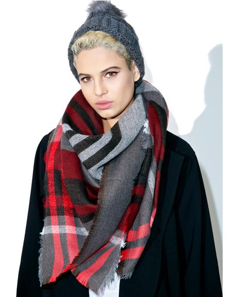 Poster Gurl Plaid Scarf