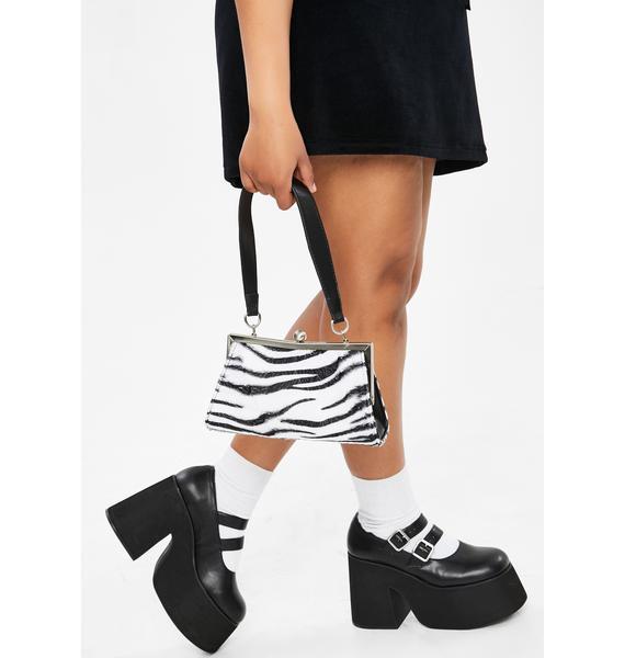dELiA*s by Dolls Kill Tween Spotlight Zebra Handbag