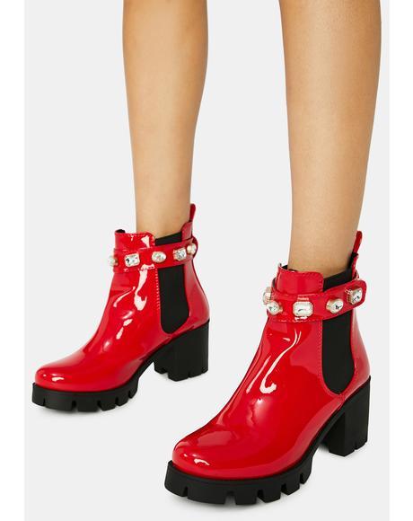 Rhinestone Loopy Boots