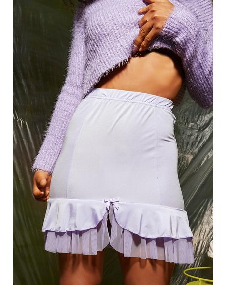 Lilac Lullaby Mini Skirt