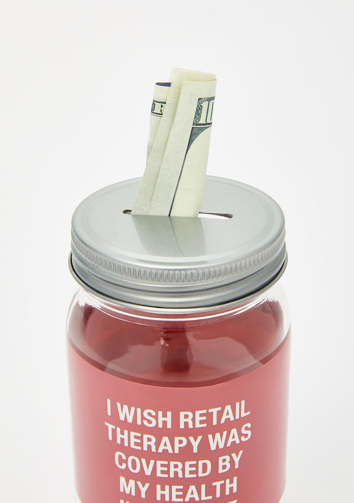 Retail Therapy Money Jar