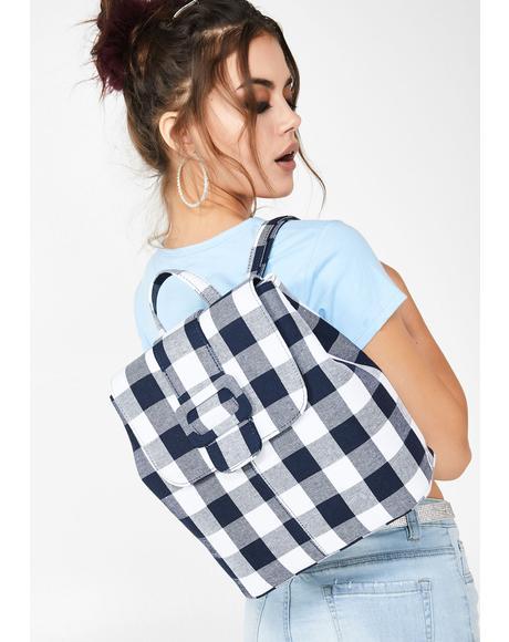 Ella Gingham Backpack