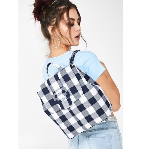 Skinnydip Ella Gingham Backpack