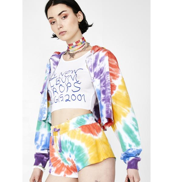 Current Mood Trippy Delight Tie Dye Shorts