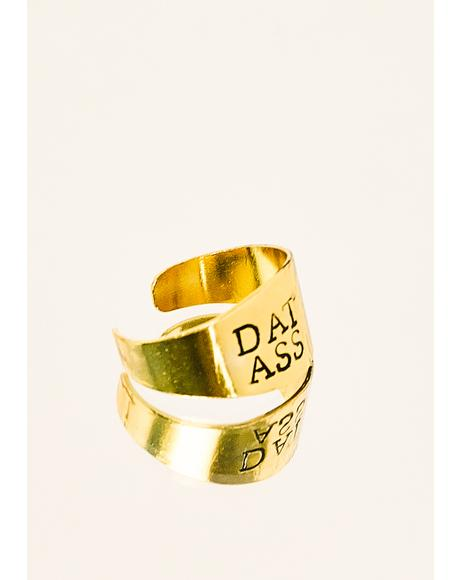 Brass Stamped Ring