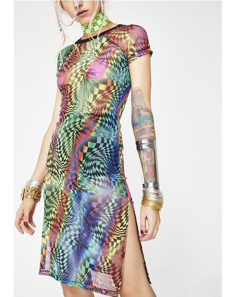 Psytrance Mesh Dress