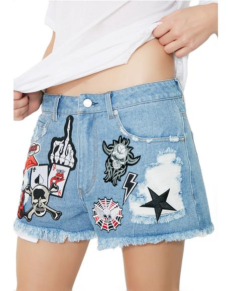 Hell Bent Denim Shorts