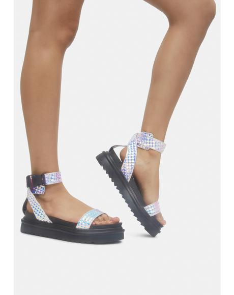 Pink Kassandra Gladiator Sandals