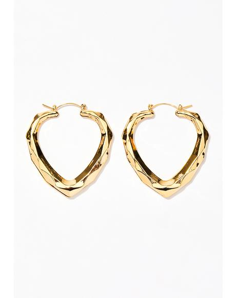 Knock Knock Hoop Earrings