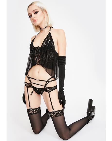 Not Ur Babydoll Garter Set