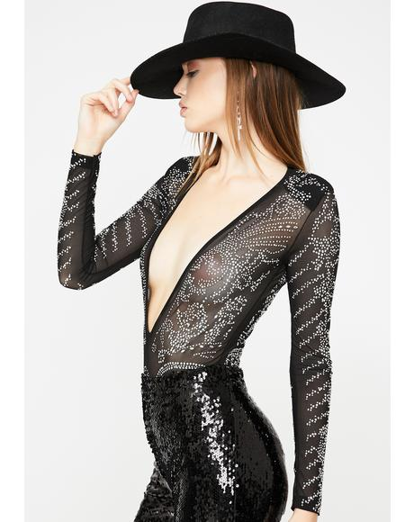 Pick Me Up Sheer Bodysuit