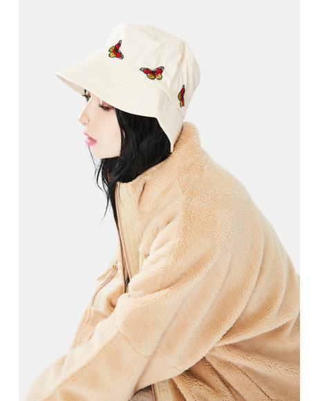 It's A Breeze Butterfly Embroidered Bucket Hat