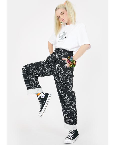 X Flintstones Characters Pants