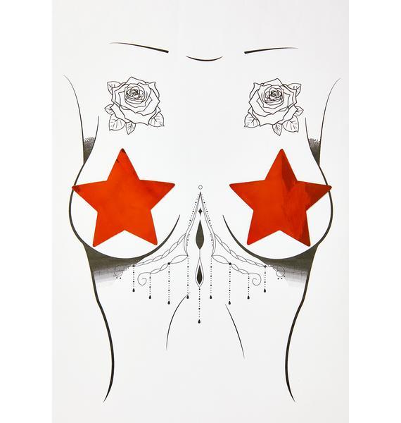 Neva Nude Mirror Mirror Star Pasties
