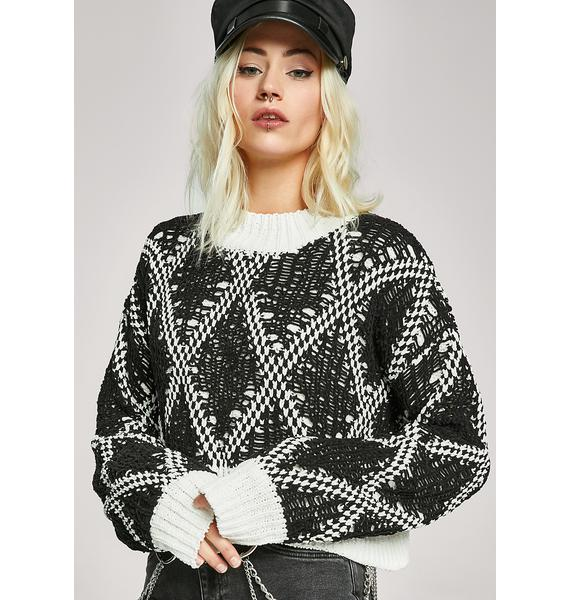 Cookies N' Cream Argyle Sweater