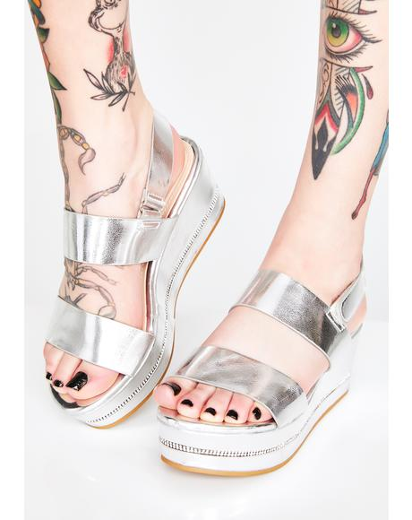 Chrome Dont Even Try Platform Sandals