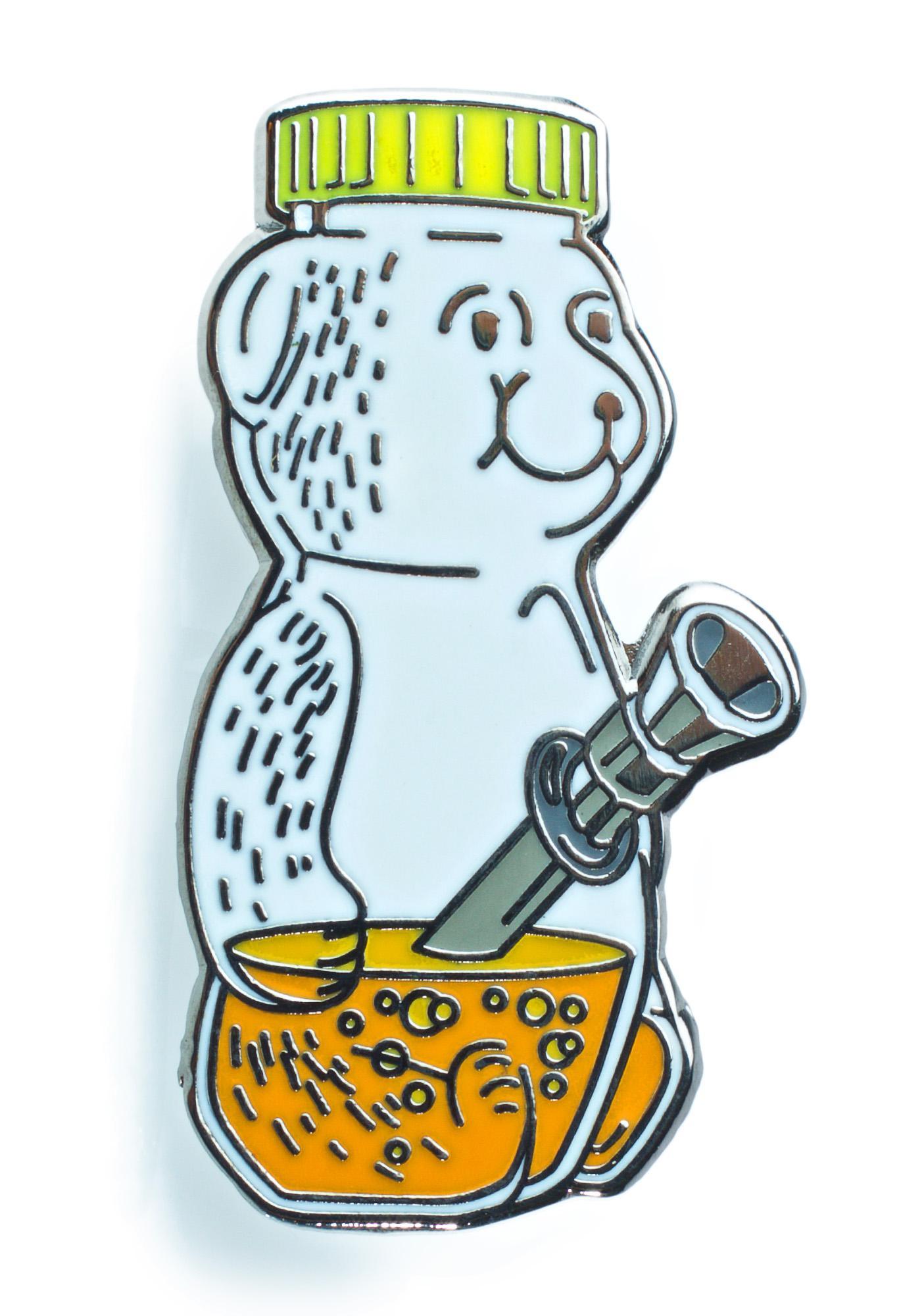 No Hours Honey Bear Pin