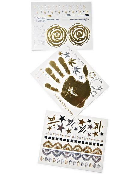 Rocker Nippies Flash Tattoos